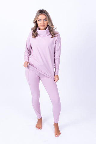 Cowl Neck Sweater Pink