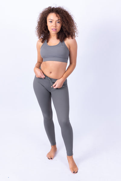 Extra High Waisted Leggings Grey