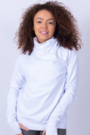 Cowl Neck Sweater White