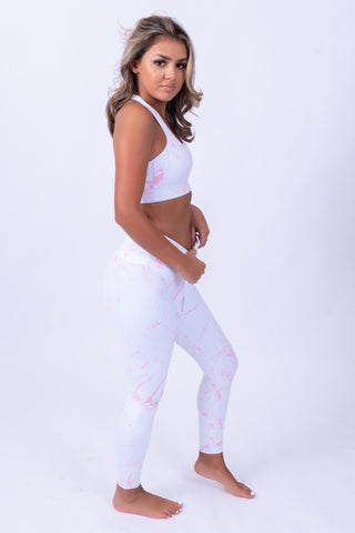 Marble Leggings Pink & White
