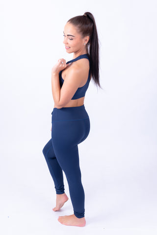 Extra High Waisted Leggings Navy