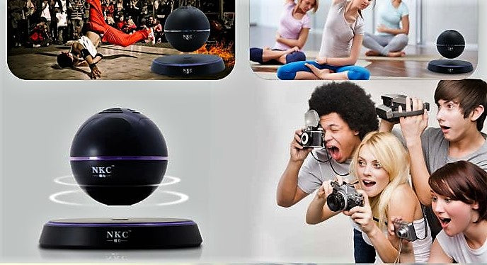NKC levitating bluetooth speakers LED portable wireless floating speaker magic magnetic mysteriously floating gift decor