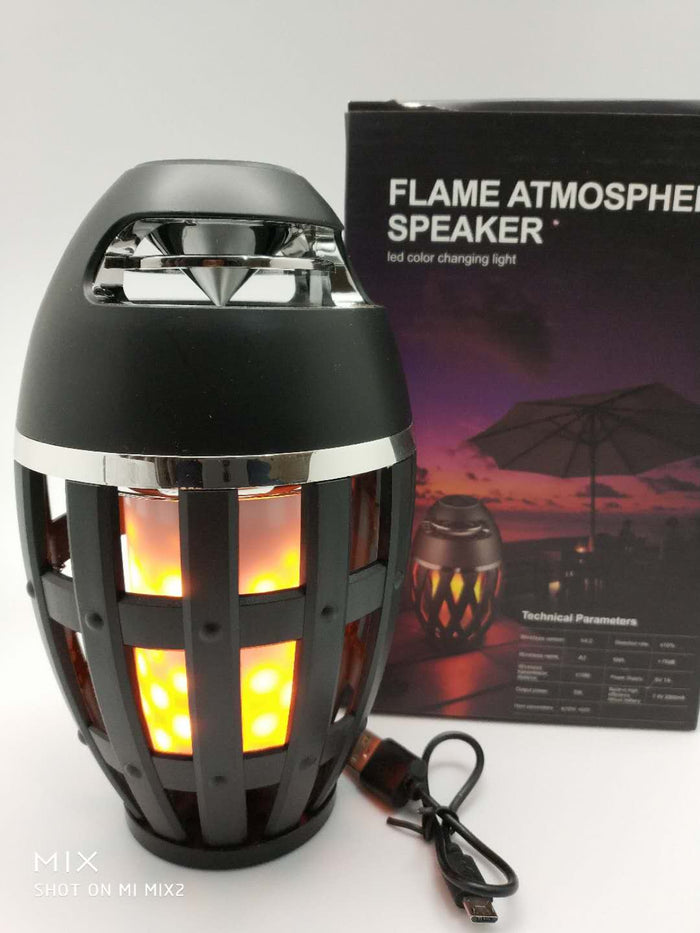 Popular flame atmosphere lamp bluetooth speaker