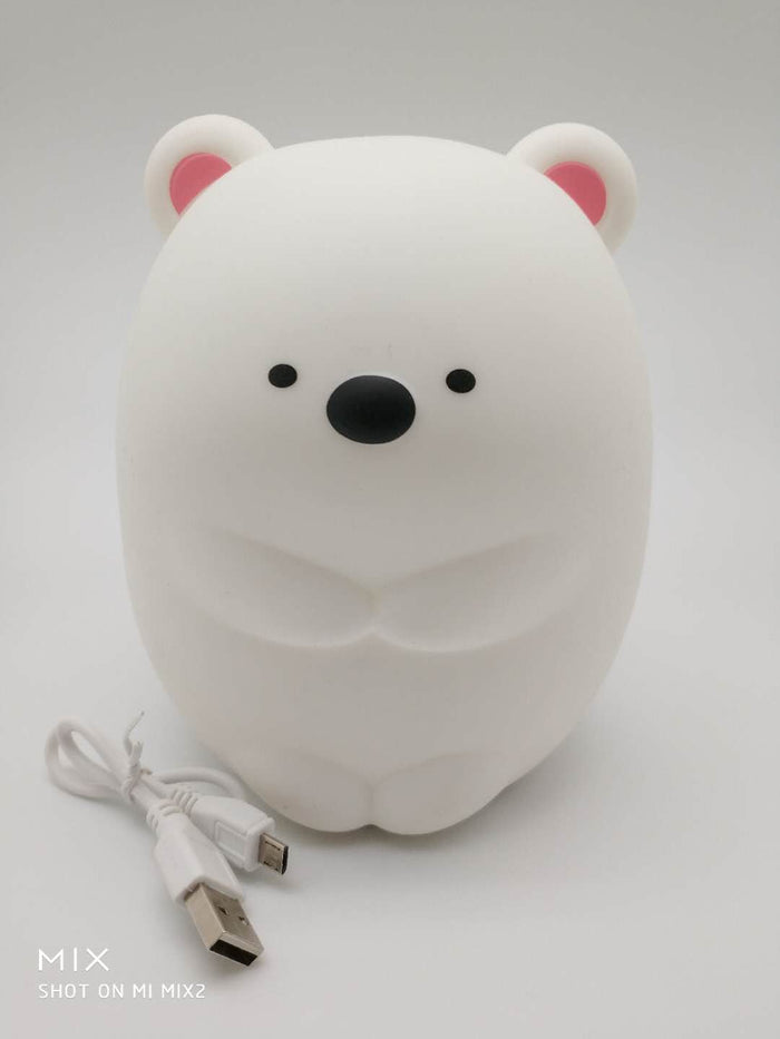 Sweet cute bear cilicone LED mulitcolor change lamp light