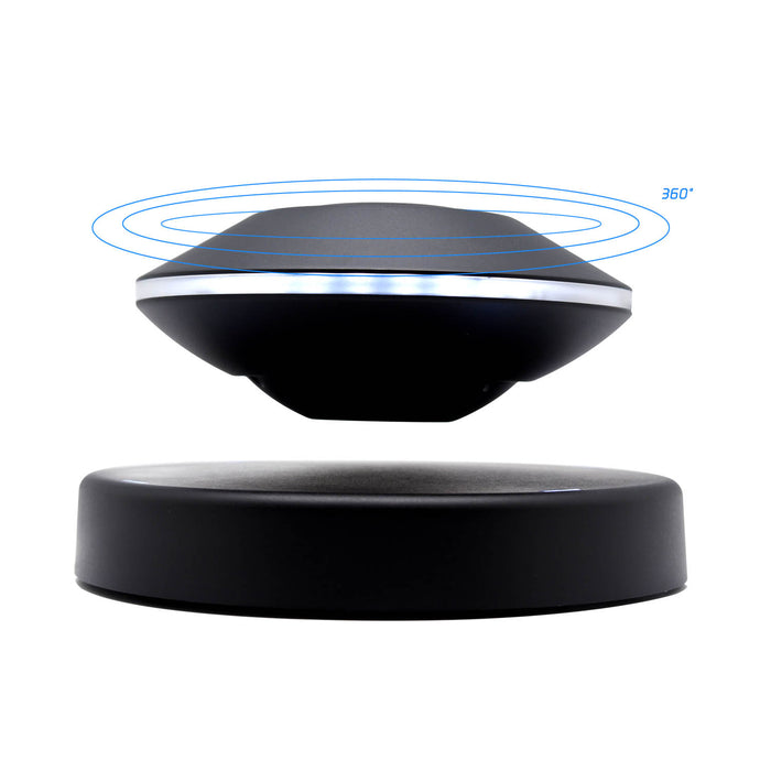Cool UFO Magnetic Levitation  Speaker Bluetooth Wireless Floating Rechargeable Sound idea for unique tech gift