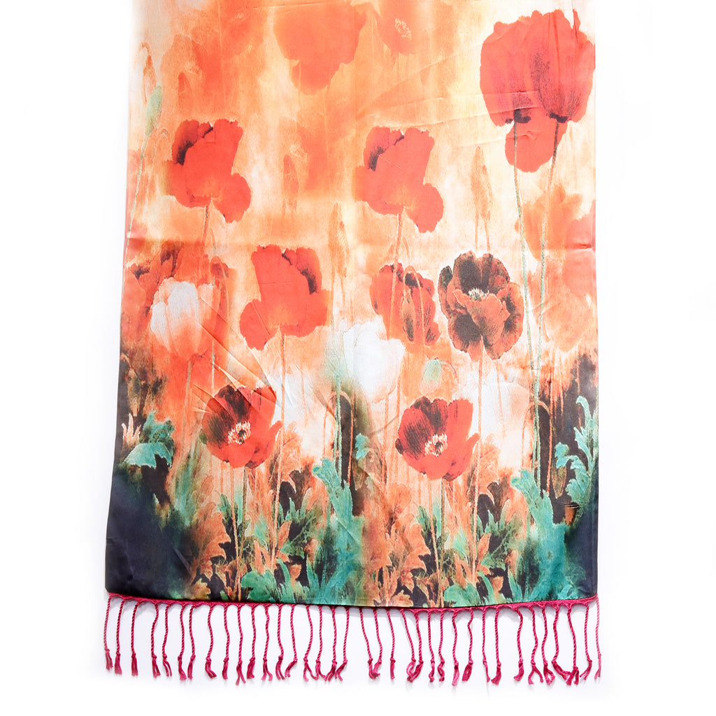The luxury double-sided poppy scarf for remembrabce sunday veterans day holiday party unique gift