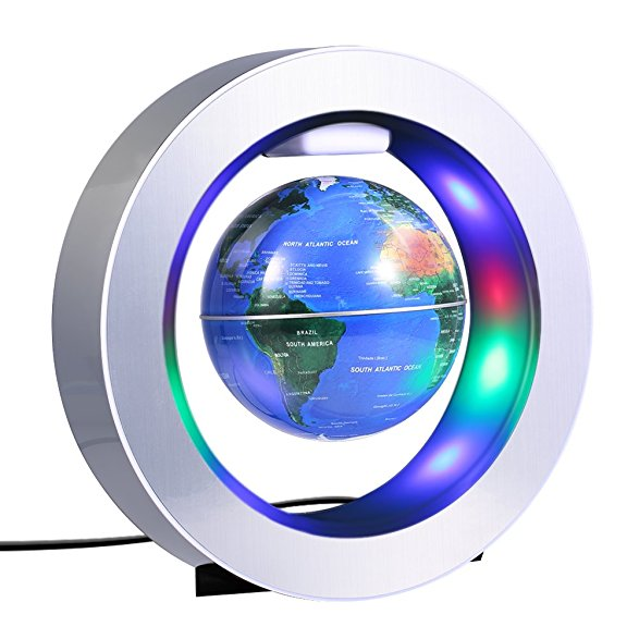 stunning 4 inch magic  magnetic levitation floating globe LED base high tech gadget gift decor