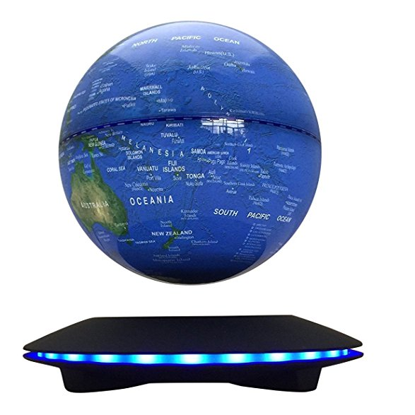 super 6 inch LED color change magic magnetic levitation floating globe gadget gift decor