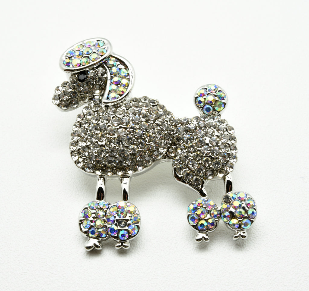 The sparkling sweet dog brooch