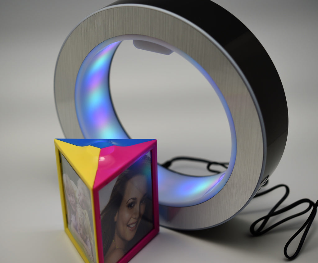 DIY personalized magic LED  magnetic levitation  floating photo frame gadget mysteriously suspended christmas gift desk decoration