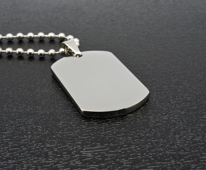 Personalised stainless steel Dog Tag