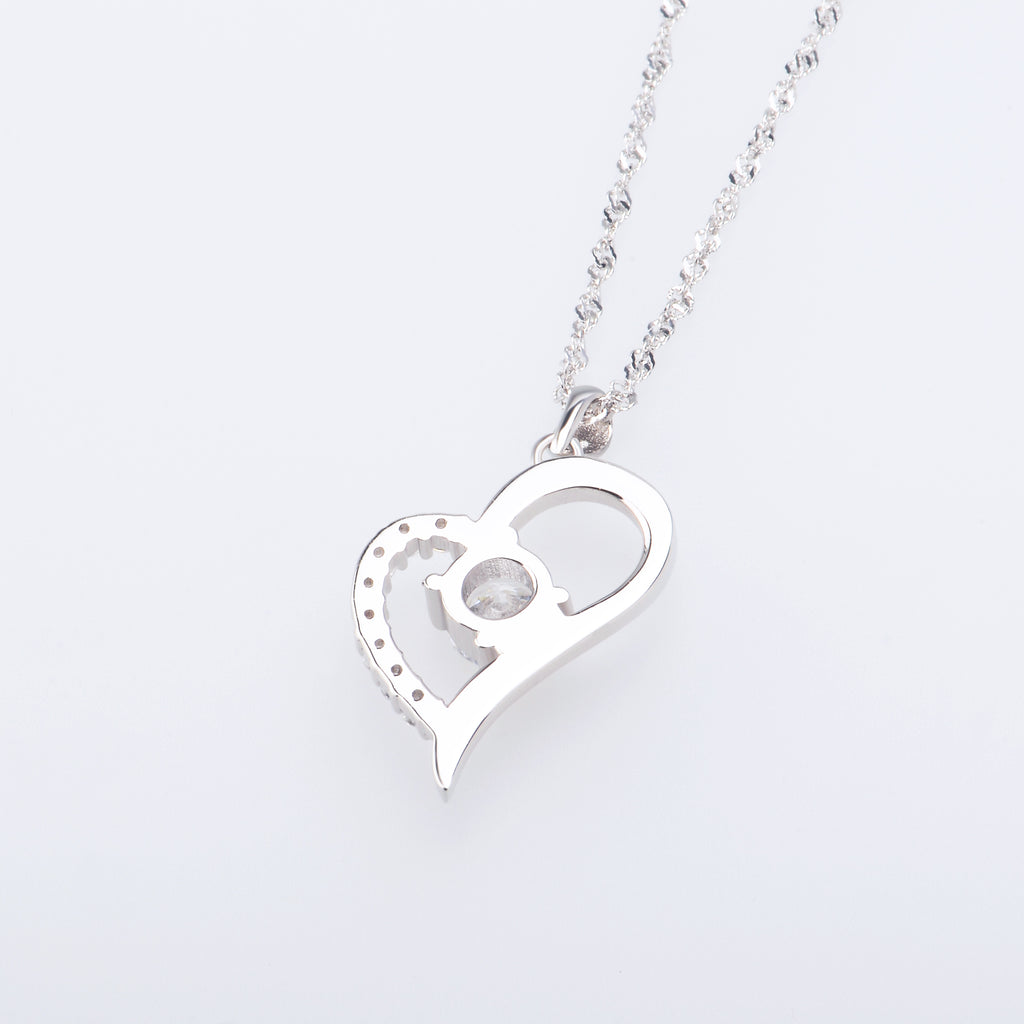 A gorgeous classic hreat shape 925 sterling silver necklace