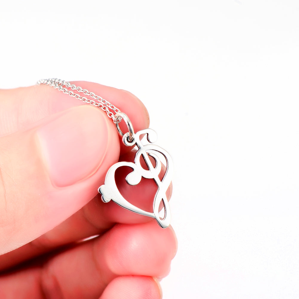 The elegant 925 sterling silver soul of music necklace