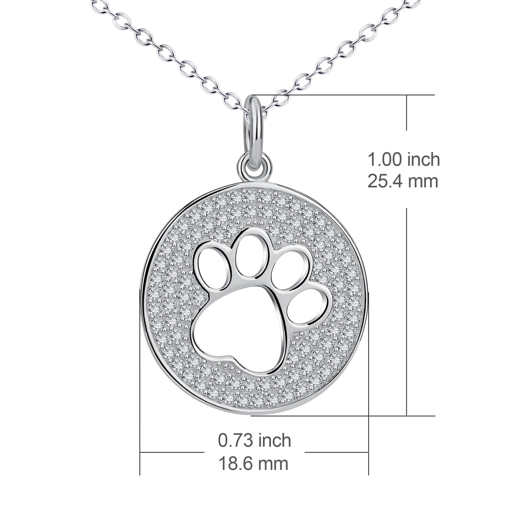 The cute footprints design 925 sterling silver with AAA grade zircon stone necklace
