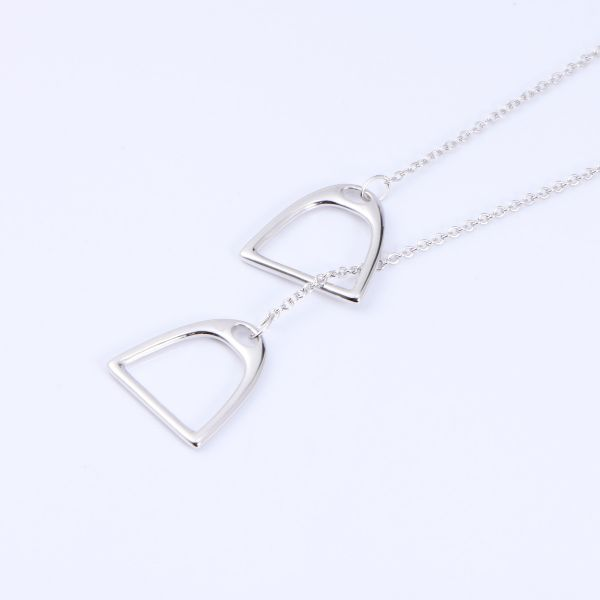 The unique stirrup shape 925 sterling silver necklace