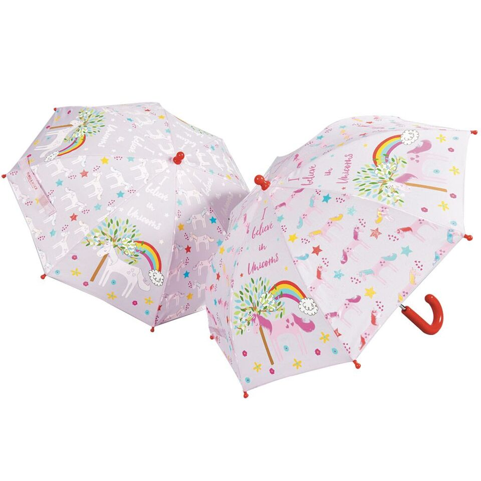 get your perfect gift for unicorn lovers, colour changing brolly, must have accessory