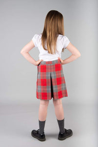 Culottes, Skorts in Red and Grey School Tartan