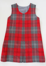buy trendy primary school dress in grey and red tartan for skinny primary school girls