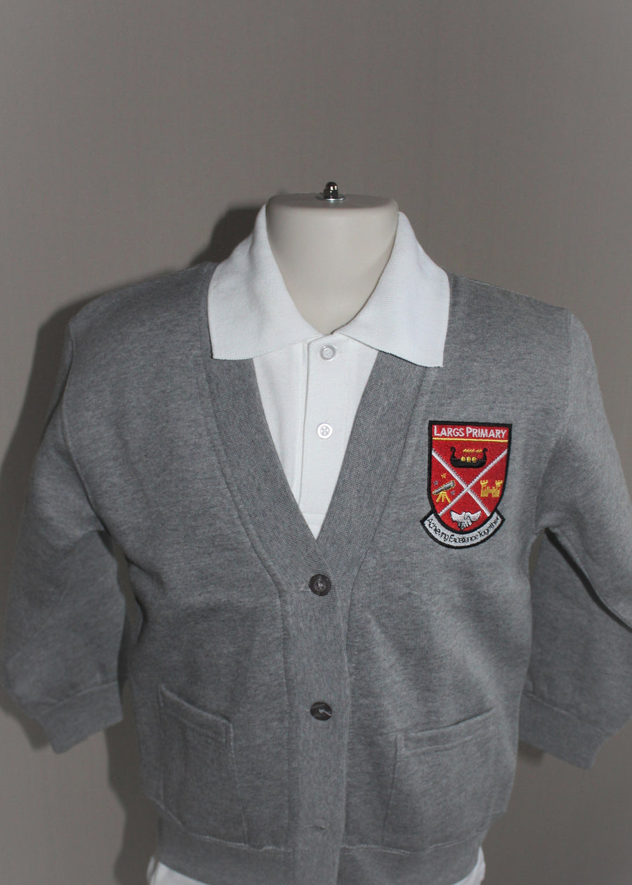 Grey Cardigan Largs Primary School