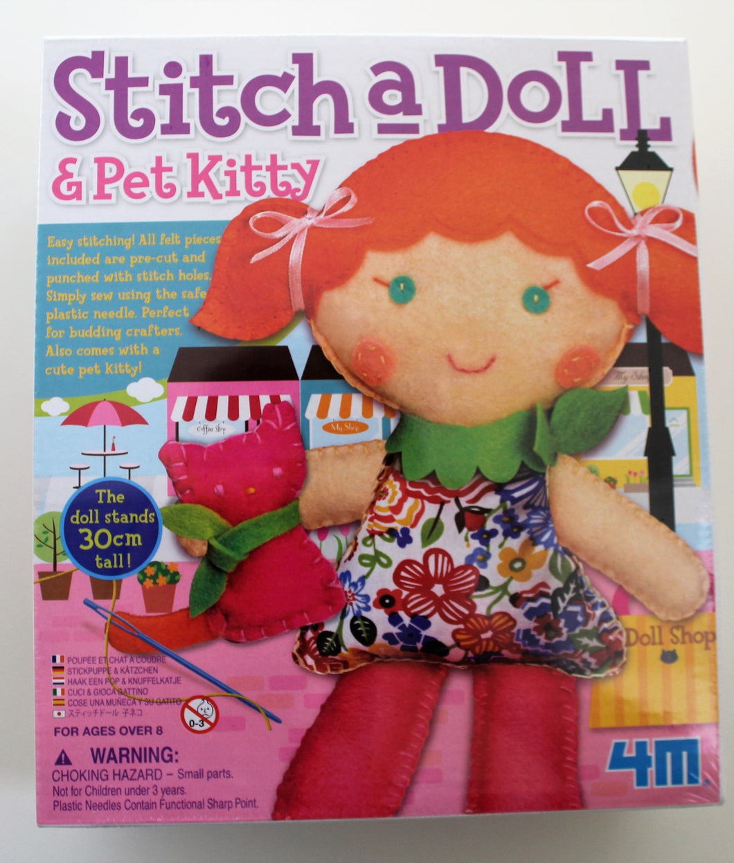 make your wee dolly and kitten, lovely craft activity for friends and beautiful gift for little crafters