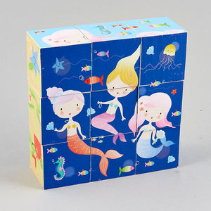 mermaid 3D jigsaw puzzle cubes, under the sea, creative imaginative gifts for girls age 3 4 5 6