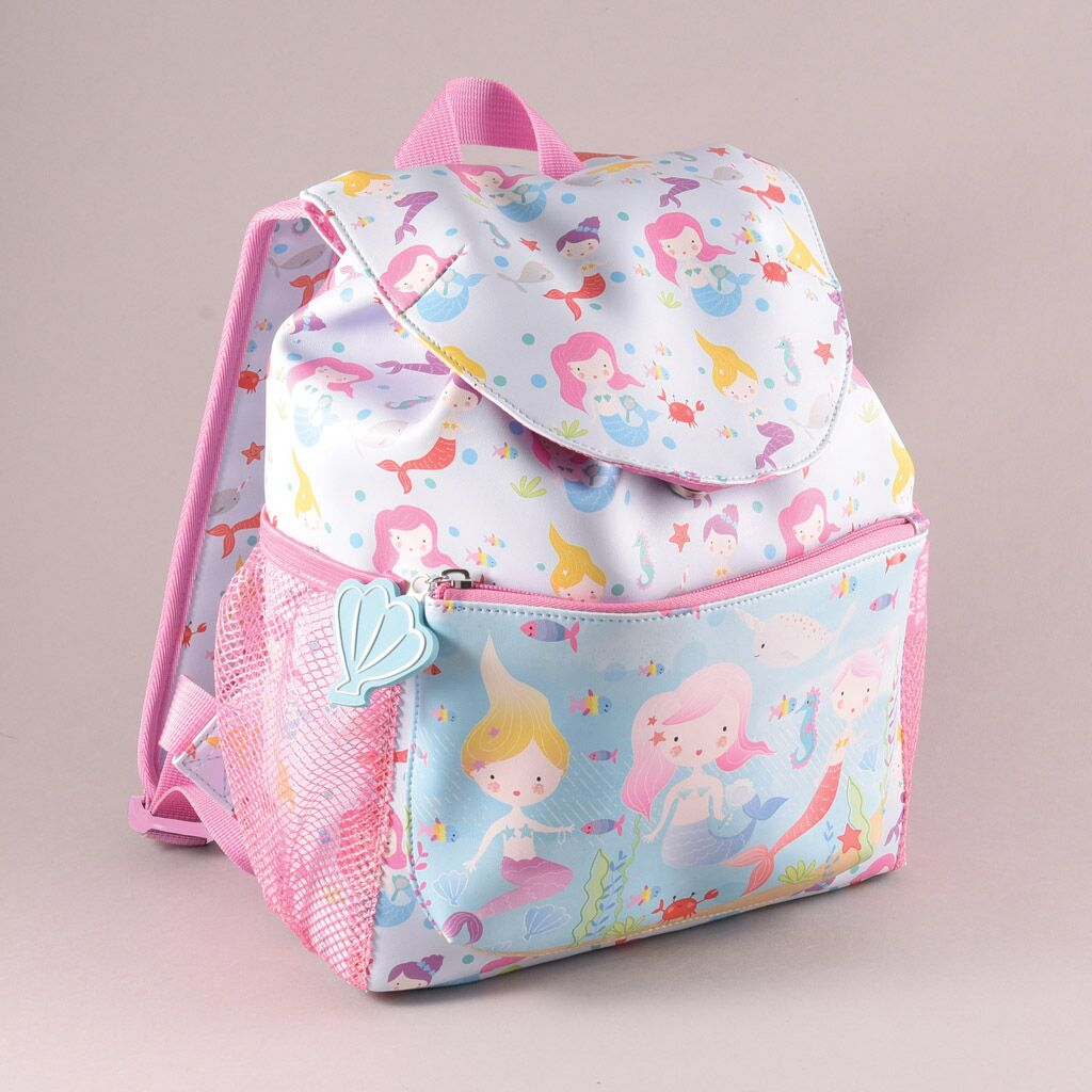 pink little mermaid school rucksack, ideal bag to take for swimming too