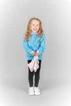 Light blue nursery jumper for Largs EYC, long lasting, non-colour fading sweatshirt for young children