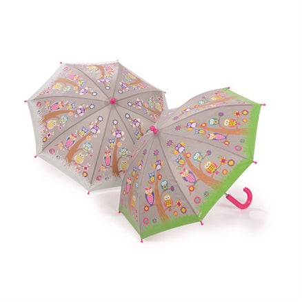 owl magic colour changing umbrellas for kids