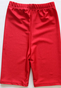 Largs Primary and Inverkip Primary School girls PE uniform cycling shorts red