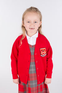Long Lasting Red Cardigan NEW - Largs Primary School