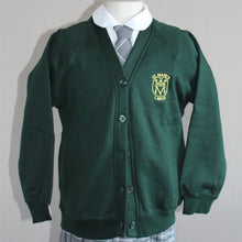 Green cardigan with school badge for St Marys Primary Largs