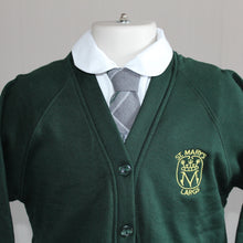 St Marys Primary School Uniform, bottle green cardigan with school badge