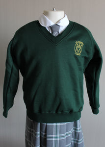 V-Neck School Sweatshirt for St Marys Primary Largs, long lasting, non colour fading