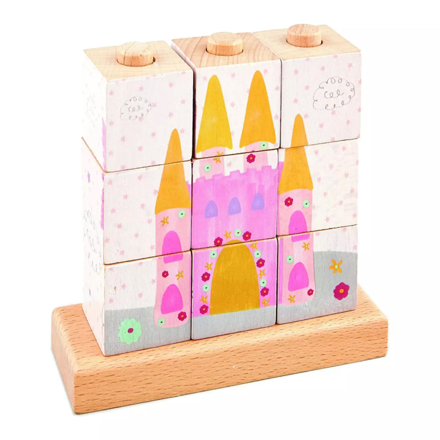 stocking filler ideas for girls, wooden unicorn magic and princess world 3D jigsaw puzzle cubes, useful learning gifts for girls age 3 4 5