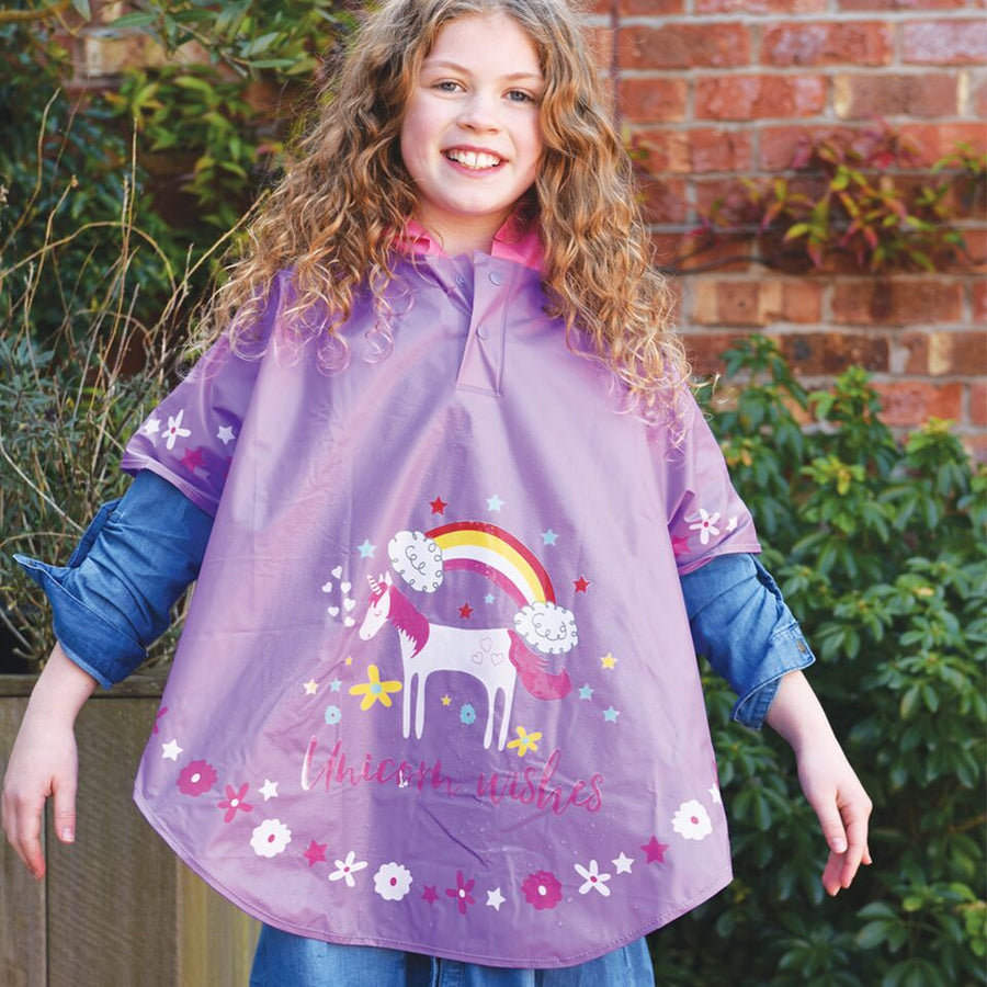 unicorn rain cover poncho, buy the trendiest school accessories for every day use
