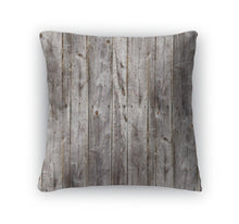 Throw Pillow, Old Gray Fence Boards Wood-Shop Here Pravalia
