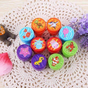 10PCS Self Ink Stamps Kids Party Favors Supplies For Birthday Gift Toys Christmas