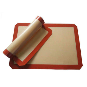 1Pc Silicone Baking Mat 42*29.5cm Non-Stick Silicone Baking Sheet Red Stock Offer-Kitchen Utensils ans Gadgets-Shop Here Pravalia