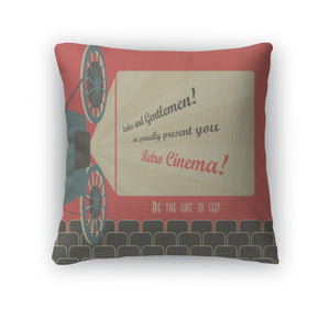 Throw Pillow, Retro Cinema-Shop Here Pravalia