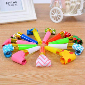 30PC Birthday Party Favors Multi Color Party Blowouts Whistles Kids Party Supplies-Party Supplies-Shop Here Pravalia