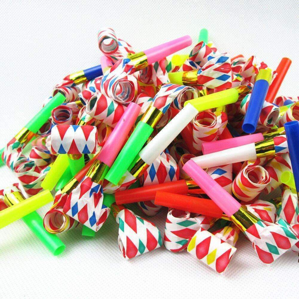 30PC Birthday Party Favors Multi Color Party Blowouts Whistles Kids Party  Supplies