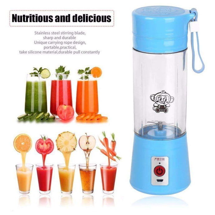 Lovely 4 Colors 380ml USB Electric Fruit Juicer Rechargeable Mini Portable Juice  Water Bottle Kitchen Utensils