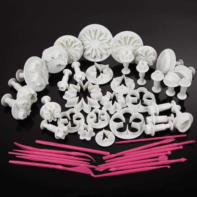 47 Pcs/Set DIY Sugar Craft Cake Decorating Fondant Icing Plunger Tools Mold-Kitchen Utensils and Gadgets-Shop Here Pravalia