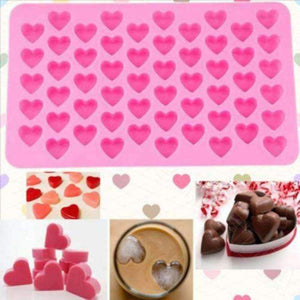 55 Holes Cool Heart Style Silicone Chocolate Mold Ice Candy Lolly Muffin Mold-Kitchen Utensils and Gadgets-Shop Here Pravalia