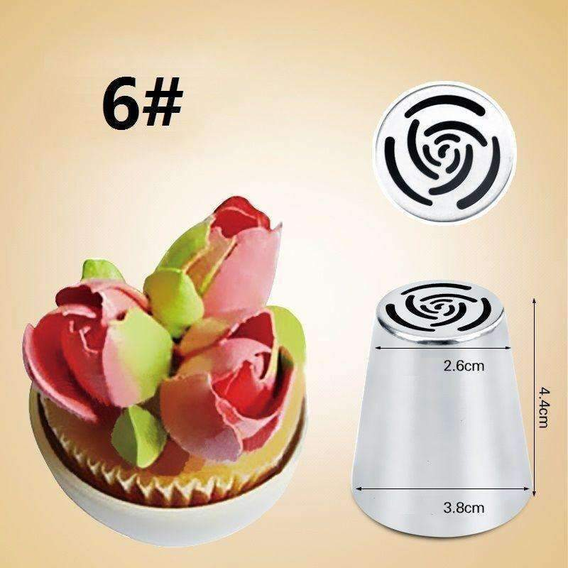 7PCS Russian Piping Tips Cake Pastry Nozzles Cake Decorating Tools Cake  Pastry Nozzles Tips