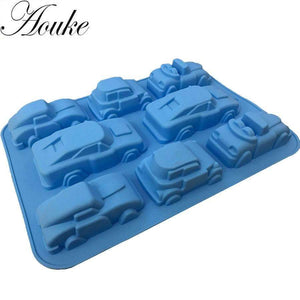 Cars Shape Silicone Chocolate Cake Molds, Chocolate, Candy, Jelly Molds-Kitchen Utensils and Gadgets-Shop Here Pravalia