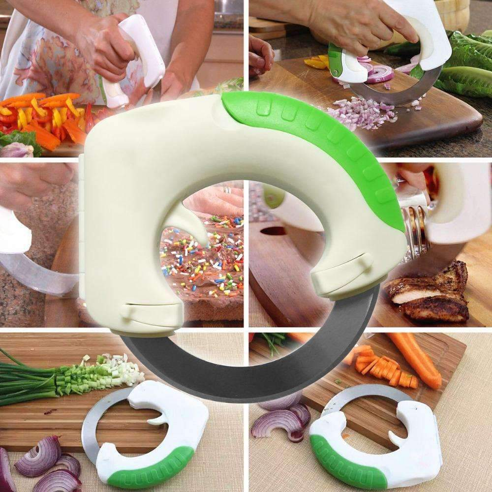 Circular Annular Cutter Kitchen Knife Chopping Pizza Portable Safety Multi functional-Kitchen Utensils and Gadgets-Shop Here Pravalia