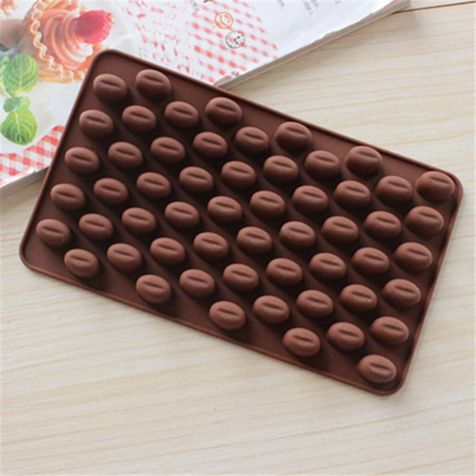Coffee Bean Chocolate Candy Silicone Bakeware Mold Cake Fondant Mold-Kitchen Utensils and Gadgets-Shop Here Pravalia