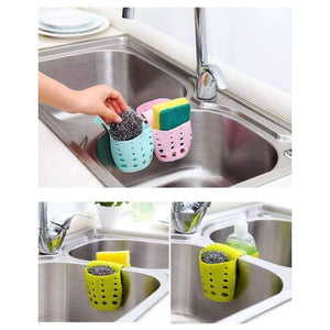 Kitchen Sink Storage Bag Basket Hanger Holder Holder Sink Sponge Drainer Cutlery Container-Kitchen Utensils and Gadgets-Shop Here Pravalia