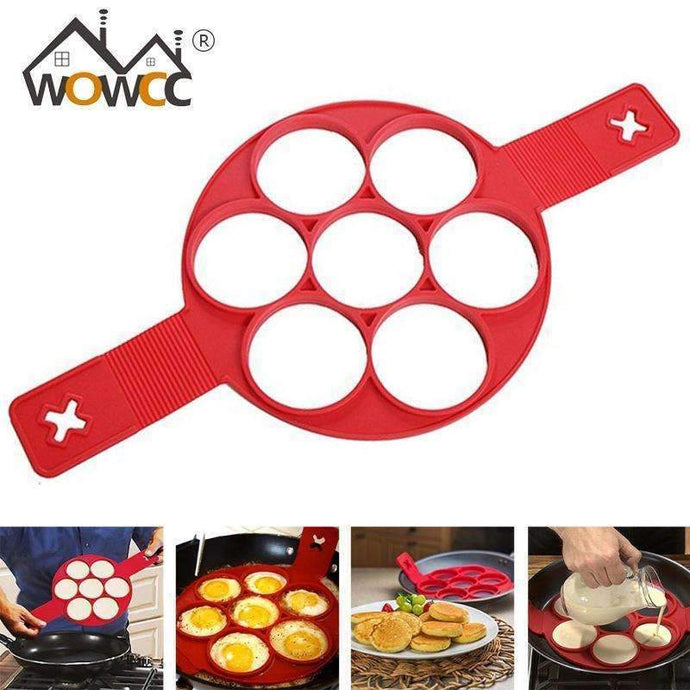 Non stick Cooking Tool Egg Ring Maker Perfect Pancakes Cheese Egg Cooker Pan Flip Eggs Mold-Kitchen Utensils and Gadgets-Shop Here Pravalia